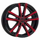 MAK MILANO 7 x 17 5*114,3 Et: 40 Dia: 76 Black and Red