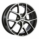 BBS SR007 7,5 x 17 5*108 Et: 45 Dia: 70 Vulcano grey diamond cut