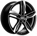 FONDMETAL Hexis 8 x 18 5*112 Et: 29 Dia: 66,5 Black Glossy Machined